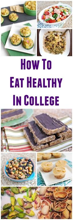 Wondering how to eat healthy in college? It is possible! This post is full of ideas for easy meals and snacks for dorm room living.