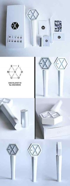 Glow Sticks 159091: Kpop Exo White Concert Light Stick Sehun Chanyeol Do Glow Light Stick Lamp BUY IT NOW ONLY: $44.99