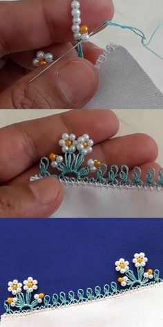 Needlework Model with Intense Desire - Expression . - Beaded Needle Lace Model with Intense Expression – Lecture -Beaded Needlework Model with Intense Desire - Expression . - Beaded Needle Lace Model with Intense Expression – Lecture - Pearl Embroidery, Silk Ribbon Embroidery, Beaded Embroidery, Embroidery Stitches, Hand Embroidery, Embroidery Designs, Beaded Lace, Crochet Flowers, Fabric Flowers