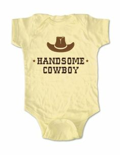Amazon.com: Handsome Cowboy with a Hat - cute baby one piece infant clothing (Newborn, Banana): Baby