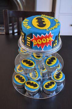 Batman Cake and Cupcakes                                                                                                                                                                                 More