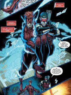 Flash & Arsenal Kid Flash, Arsenal, Comic Books, Marvel, Comics, Boys, Cover, Art, Baby Boys