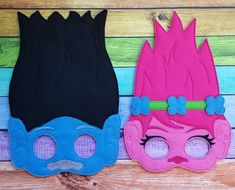 Troll Felt Masks Trolls Halloween Costume by TreasuredForever Trolls Birthday Party, 5th Birthday Party Ideas, Troll Party, Halloween Birthday, 1st Birthday Girls, Party Themes, Troll Halloween Costume, Felt Mask, Partys