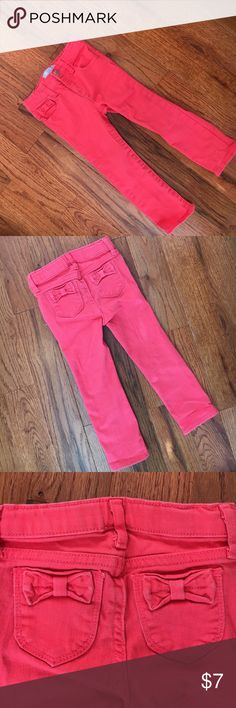 Gap Skinny Fit Jeans Gap skinny fit coral jeans. Gently used. Size 3T. Smoke free home. GAP Bottoms Jeans
