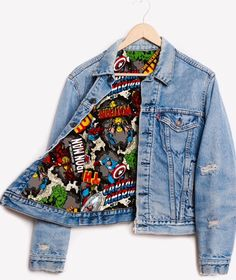 Runwaydreamz Rwdz X Marvel Iron Man X Padded Jacket by Levis (AUD ❤ . - Runwaydreamz Rwdz X Marvel Iron Man X Padded jacket by Levis (AUD ❤ likes … – # - Marvel Fashion, Nerd Fashion, Fandom Fashion, Fashion Outfits, Moda Marvel, Marvel Comics, Mode Geek, Marvel Clothes, Marvel Shoes