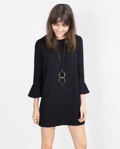 PLUSH FRILL DRESS-Mini-Dresses-WOMAN | ZARA United States