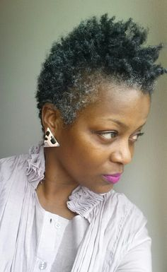 Short Natural Black Hairstyles Natural Hair Styles For Woman Of Color With Salt And Pepper Short