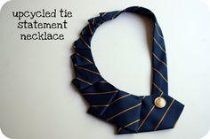 tie statement necklace