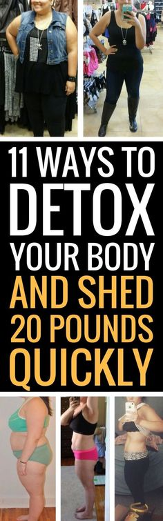 11 ways to detox and cleanse your body - and lose weight at the same time.