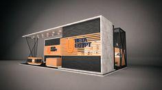 BETA EGYPT Exhibition on Behance Trade Show Design, Stand Design, Set Design, Kiosk Design, Cafe Design, Exhibition Stall Design, Exhibition Ideas, Exhibition Stands, Stand Feria