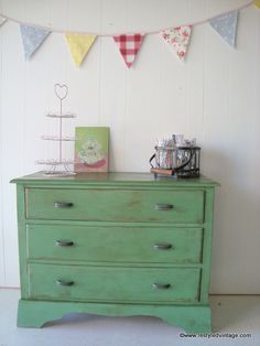 Restyled Vintage: Rustic Green Drawers