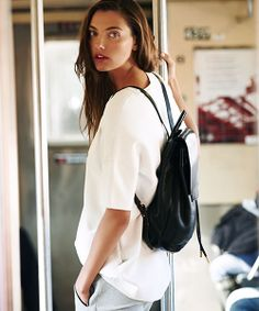 The Rag & Bone Pilot Backpack, perfect for the girl on-the-go. #MakeTheOutfit #AccessorySelfie