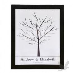 Family Tree Signature Personalized Framed Guest Book