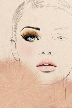 i really want a blank version of this face chart!! damn just used images.google.com to reverse search this and its just a fashion illustration!!