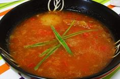 Roasted Tomato, Pepper, and Red Onion Soup _ This is an unusual recipe ...