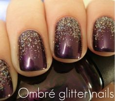 glitter ombre nails |