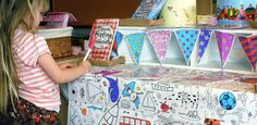 Opened out and coloured in eggnogg makes products fly! Interior shop display