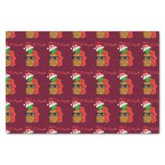 Mele Kalikimaka Christmas Pineapple Tissue Paper - christmas craft supplies cyo merry xmas santa claus family holidays