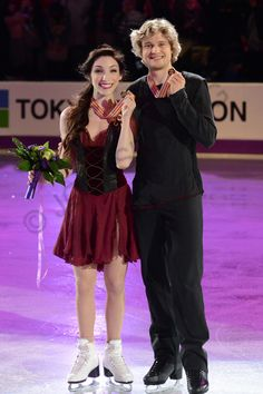 Meryl Davis and Charlie White at the 2013 World Championships.