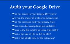 An Excellent New Google Drive Add-on for Auditing Your Files and Folders ~ Educational Technology and Mobile Learning