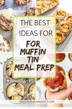 Muffin Tins are a tool I use to whip up a recipe once, have the portioning done so easily, and put into meal prep containers for the week! #mealprep #muffintins #mealplanaddict #muffintinmealprep Meatloaf Recipe With Cheese, Classic Meatloaf Recipe, Hamburger Meat Recipes Easy, Meat Loaf Recipe Easy, Muffin Tin Recipes, Muffin Tins, Baked Oatmeal Cups, Dairy Free Yogurt, Delicious Breakfast Recipes