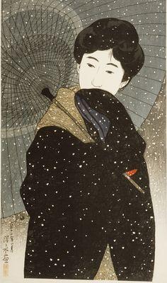 ito shinsui...night snow...1923