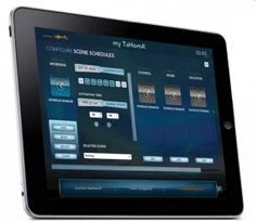 Electronic home control. Control lights, shades, furnace, locks, etc. wirelessly from your phone or tv.  TaHomA by Somfy.