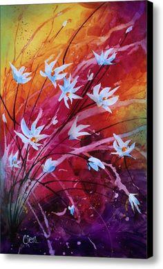 Dancing Flowers Canvas Print / Canvas Art By Michael Lang
