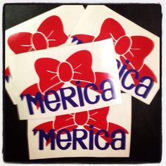 America Bow Decal by christylous on Etsy, $7.00
