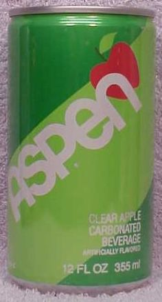Aspen Soda....loved this stuff!  I remember when it came out they sent us a free can in the mail...not a coupon, the can!!!