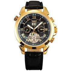 OrrOrr Elegante Klassisch DatumUhr mechanische Automatikuhr Herrenuhr Armbanduhr Uhr schwarz - http://uhr.haus/orrorr-8/orrorr-elegante-klassisch-datumuhr-mechanische