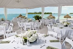 Oceanfront reception setup at Sunset Key Guest Cottages, A Westin Resort in Key West