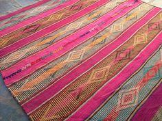 Alfombra / Manta Antigua Norteña Tejida En Telar Artesanal - $ 1.790,00 en MercadoLibre
