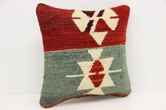 Decorative Kilim pillow cover 12 x 12 Eclectic by kilimwarehouse