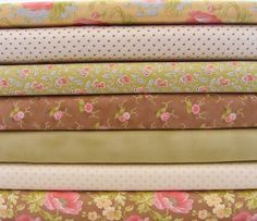 Fabric Fat Quarter Bundle Buttercup by Fig Tree Quilts for Moda Fabrics-7 Fat Quarters