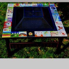 Great idea or silent auction.  Tile top fire pit