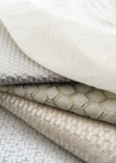 Whites, neutrals, textures and patterns come together in this heavenly collection of fabrics by Larsen from Cowtan & Tout