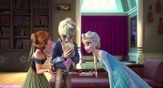 Credit to the artist! #jelsababy #family #anna #frozen #riseoftheguardians
