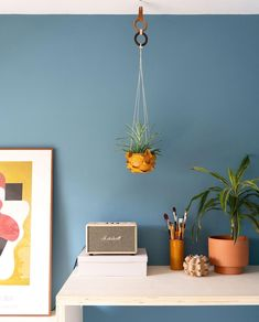 DIY leren plantenhanger - vtwonen - blog My Attic