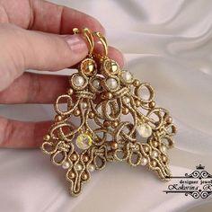 Soutache Necklace, Macrame Earrings, Bead Jewellery, Jewelery, Soutache Tutorial, Jewelry Crafts, Handmade Jewelry, Earring Trends, Shibori