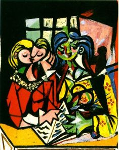 Pablo Picasso - Dos Mujeres Leyendo III, 1934