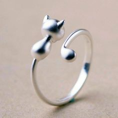 Cute Open Ring Kitty Cat https://www.bengalcats.co/shop/jewelry/rings/cute-open-ring-kitty-cat/ Tap the link for an awesome selection cat and kitten products for your feline companion!