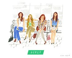 GIRLS illustrated Nina Cosford