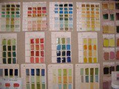 Glazed test tiles