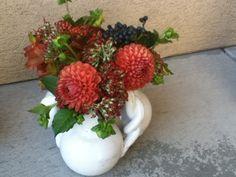 The Fleurist--Dahlias, Sedum, Viburnum Berry, Liquid Amber