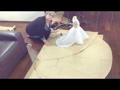 SAIA DE NOIVA SUPER VOLUMOSA COM UMA LINDA CAUDA DE 1,80 m ( como fazer a saia e a cauda) - YouTube