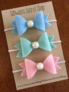 felt baby headband CHOOSE 3 colors baby by SchwensSecretShop