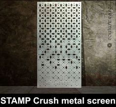 STAMP Crush laser cut metal panels