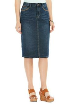 Cato Fashions Arrow Tab Denim Skirt CatoFashions