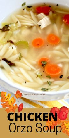 This easy Chicken Orzo Soup from scratch is perfect for a meal or sandwich partner any day! Made easily in minutes with a hint of lemon, this lovely orzo soup recipe is ready in about 15 minutes.#chickensoup #chickenorzo #orzolemon. #souprecipe Chicken Orzo Soup, Chicken Soup Recipes, Easy Soup Recipes, Chicken Flavors, Best Dinner Recipes, Pork Recipes, Cat Recipes, Popular Recipes, Healthy Recipes